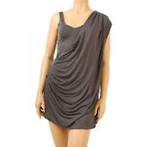 FCUK French Connection Charcoal Grecian Toga Dress - like New