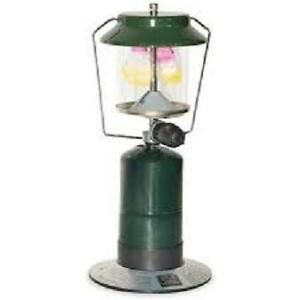 Propane Dual Mantle Camping Lantern and Coleman Propane Cylinder
