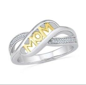 Mothers day mum rings S925 silver & rose gold