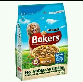 ×4 Bakers Puppy Food with Tasty Chicken & Country Vegetables