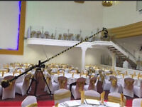 Camera crane jib hire for wedding cinematography videography filming weddings Operator c100 5d mk3