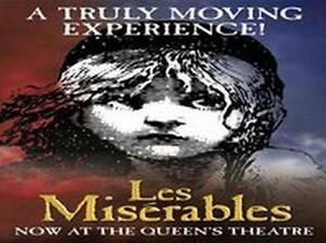 LES MISERABLES Ticket and Meal THEATRE PACKAGE with a TOP PRICED SEAT