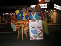 Spécial fête animation duo clowns ballons magie barbe à papa