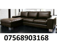 sofa ITALIAN NERO LEATHER CORNER SOFA BLACK OR BROWN BRAND NEW 214