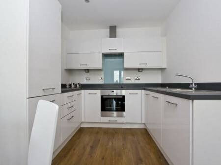 Modern 1 bedroom in Stratford short walk to Stratford Station Furnished with 24 Hr Concierge