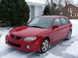 2003 Mazda Protege5 5 SPEED MANUAL Dark newer tint