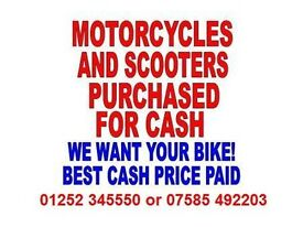 MOTORCYCLES AND SCOOTERS WANTED!!! CASH PAID!!!!