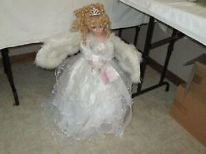 "STUNNING 22"" HIGH  ANGEL DOLL WITH WINGS!"