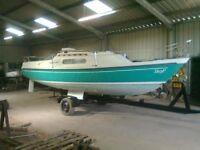 Pandora 700 Motor/Fishing Boat on Trailer