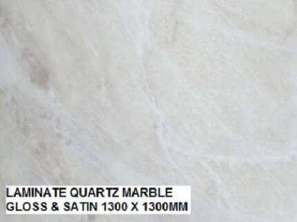 QUARTZ MARBLE LAMINATE GLOSS & SATIN 1300 X 1300MM