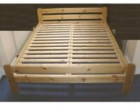 Ikea pine bed frame- double- 54 inch