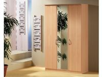 OFFER* *GERMAN QUALITY 3 DOOR SOLID WARDROBE*VARIETY OF COLOURS*