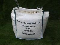 Humber cream driveway gravel comes in a bulk bag free local delivery in hull