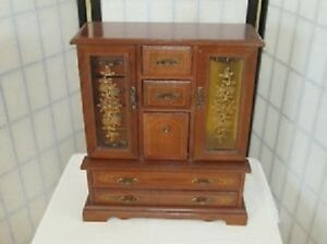 VINTAGE WARDROBE STYLE JEWELRY BOX