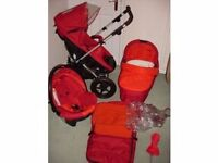 MOTHERCARE MAIU TRAVEL SYSTEM 3 in 1 (pushchair and pram). Was over £500. Delivery is available