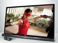 """Sony 46"""" smart 3D wifi mint condition with sound bar stand"""