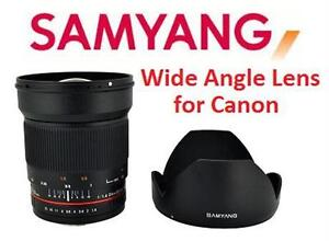 NEW SAMYANG 24mm F1.4 CAMERA LENS F1.4 Wide Angle Lens for Canon Electronics DIGITAL PHOTOGRAPHS PICTURES PHOTO