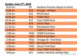 Mosport Tickets -  VINTAGE GRAND PRIX EVENT SCHEDULE