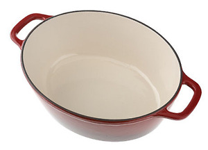KitchenAid Cast Iron 5qt Covered Oval Casserole