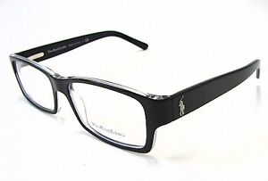 Polo Ralph Lauren Eyeglasses 2027 5011 Black/Crystal Optical Frame 54mm