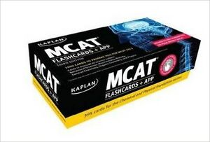MCAT Study books, 2 full practice tests, and cue card set