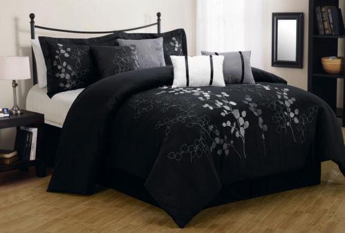 Black Silver Comforter Ebay
