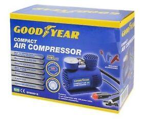 GOODYEAR Car Tyre Air Compressor Pump Bike Cycle Compact 3m Cord 12V Inflator