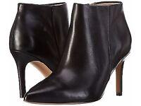 Clarks Dinah Pixie Black Leather Ankle Boots BNWB 4.5D