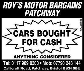 CARS BOUGHT HERE FOR CASH TODAY ...UNDER £1000