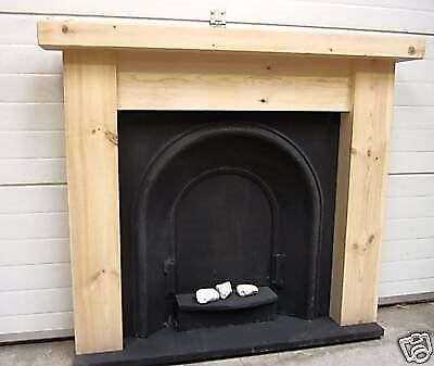 CHUNKY 3 INCH THICK TOP FIRE SURROUND IN REAL PINE ...FREE POSTAGE ...