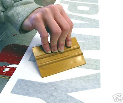 4 Gold Squeegee Nylon For Sign Vinyl Application