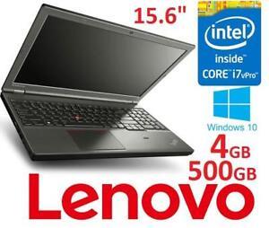 NEW LENOVO THINKPAD 15.6 LAPTOP PC - 131992729 - COMPUTER NOTEBOOK INTEL I7 4GB MEMORY 500GB HDD WINDOWS 10