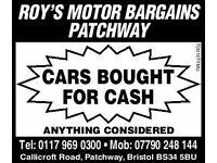 CARS UNDER £1000 WANTED ,,,CASH WAITING