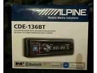 STEREO Alpine Bluetooth CDE-136BT