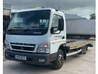 Mitsubishi Canter Vehicle Transporter With Beaver Tail Body