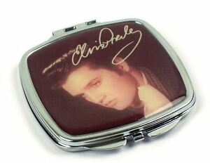 ELVIS PRESLEY METAL COMPACT MAKE UP HANDBAG MIRROR