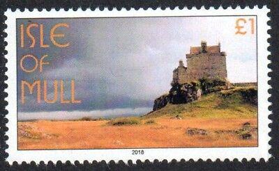 GB Locals Cinderella Isle of Mull Duart's Castle £1 PERF Stamp UNM 2018