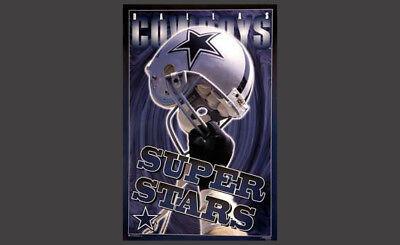 Dallas Cowboys 1996 Super Stars Design NFL Theme Art WALL POSTER (Rare Edition) - Dallas Cowboys Theme