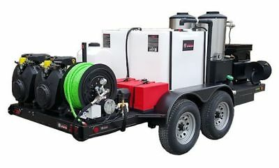 American Jetter 51t Trailer 1740 Hot Jetter - 65 Hp 17 Gpm 4000 Psi 330 Gal