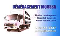 Camion avec 2 Déménageurs = 65$/h 》》》514•222•6327