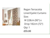 Terracotta curtains / Cushions