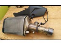 Kawasaki zx6r standard exhaust end can