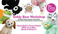 Child's Party Entertainment - Build Your Own Teddy Bear Workshop