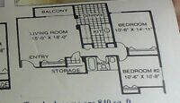 room for rent in a two bedroom appartment downtown