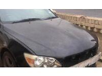 Lexus is200 black 2o2 bonnet hood 98-05 breaking spares is 200 is300 sportcross altezza