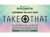 Take that tickets Hyde park. Ticket available £120 Ono