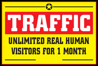 Unlimited Website Traffic For 30 Days  3 99