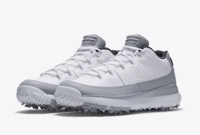 Nike Air Jordan 9 Retro Golf Barons Size 8-9.5 White Black Wolf Grey 833798-103 ()