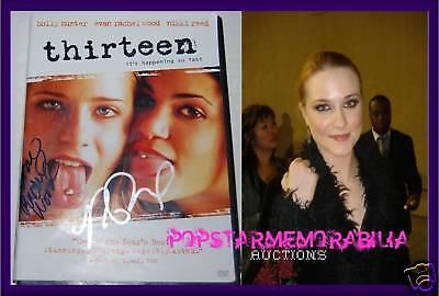 Nikki Reed Evan Rachel Wood Signed Thirteen Dvd Not Mint Coa