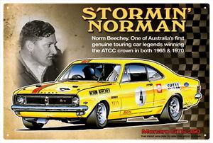 NORM-BEECHEY-MONARO-GTS-350-CAR-TIN-SIGN-20x-30cm